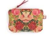 Leather Purse - Decoupage Roses
