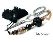 Scissor Fob Scissor Keeper Scissor Minder Elite Series Black Copper Quilting Cross Stitch Needlepoint Sewing