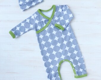 Kimono Romper - Baby Going Home Outfit - Baby Romper - Newborn Romper - Layette - Newborn - 0-3 months - 3-6 months - MADE TO ORDER