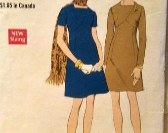 Vintage Vogue 7719 Pattern Misses One Piece Short Dress Square Neckline  Sz 14 #A569 FREE SHIPPING