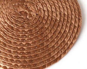 Millinery Fascinator Base Brown with Comb Singles or Wholesale Quantities Available