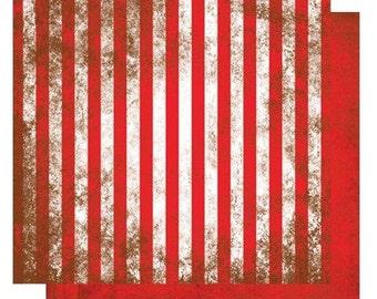 "Glitz Design- 12x12 double-sided scrapbook paper ""Kismet Stripe"""