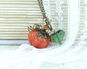 Pumpkin Necklace Autumn Jewelry Fall Necklace Pumpkin Jewelry Pumpkin Pendant Woodland Jewelry Nature Necklace