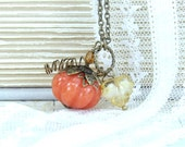 Pumpkin Necklace Fall Jewelry Autumn Necklace Pumpkin Jewelry Fall Necklace Woodland Jewelry Thanksgiving