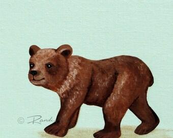 Bear Art print- Baby art prints - bear decor - Nursery wall art - Bear Nursery Prints - Woodland nursery - Woodland Animals -kids art