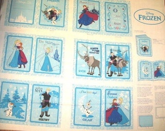 Disney Frozen baby fabric soft book panel with directions to Sew