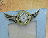 A Moment in Time- Recycled - Upcycled - Steampunk Picture Frame - by SteampunkJunq - Great Gift or Stocking stuffer