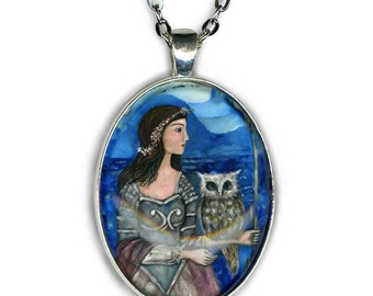 Statement Necklace - Athena Goddess - Goddess Jewelry - Goddess Necklace - gifts for her - girlfriend gift necklace - boho - handmade - chic