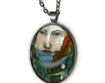 Greek Goddess - Statement Necklace - Psyche Goddess - Goddess Jewelry - girlfriend gift necklace - strong women - Boho Jewelry - Boho chic
