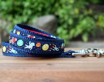 Space dog leash / Aliens dog lead / Fun Lead Custom length up to 180cm/6ft / Made in Australia