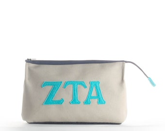 Zeta Tau Alpha Makeup Case