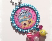 PERSONALIZED Shopkins Necklace - Cupcake Queen
