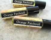 Orange Patchouli Roll On Perfume, vivid citrus blend, concentrated vegan formula, bitter orange and herbal patchouli