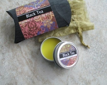 Black Tea Solid Perfume, Natural perfume, purse friendly screw top tin