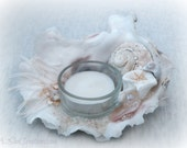 Oyster Shell Tealight - Candle Holder - Beach Decor - Beach Wedding