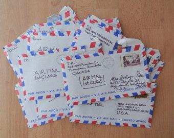 3 x Vintage Handwritten Airmal Letters Original Postmarked Envelopes Early 70's