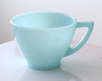 Pyrex Canada Crown Turquoise Blue Teacup Cup