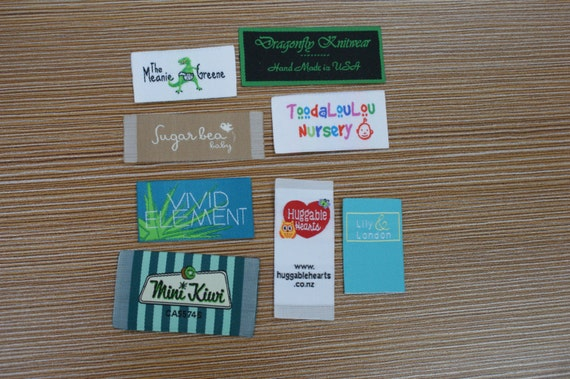 300 Custom Woven Artwork Taffeta Clothing Labels free font styles colors never fade - professional quality free design service and shipping