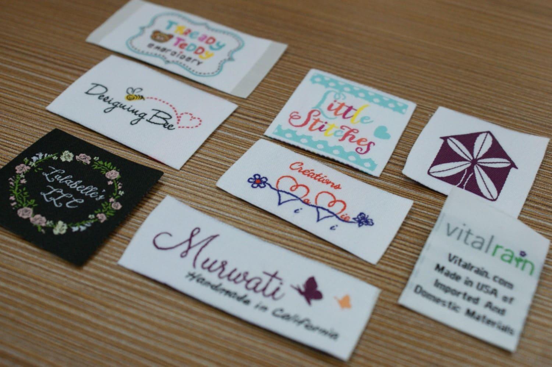600X Custom Woven Artwork Taffeta Clothing Labels free ...