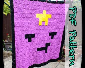 Lumpy Space Princess Crochet Blanket - A PDF Crochet Pattern - Digital Download - Afghan Pattern - 8 Bit - Pixel Art - EssHaych