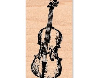 VIOLIN Rubber Stamp~Fiddle~Music~Instrument~Musical~String~Violinist~Symphony~Card Making Supplies~Mountainside Crafts (34-35)