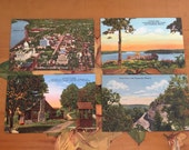 Postcards Vintage Souvenir Photos Lake of the Ozarks Missouri Travel USA set of 4