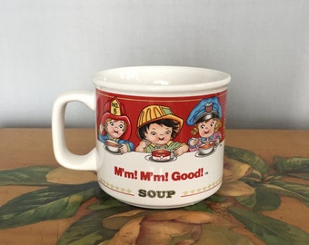 Campbell's Soup Mug Vintage 1993 Red Label White Ceramic Coffee Cup