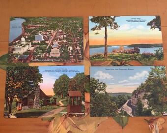 Postcards Vintage Souvenir Photos Lake of the Ozarks Missouri Travel USA set of 4