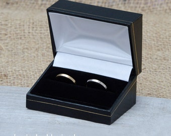 classic double ring box wooden double ring box for wedding ring sets presenting your - Wedding Ring Box
