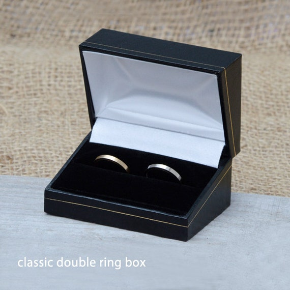 Classic Double Ring Box, Wooden Double Ring Box For Wedding Ring Sets, Presenting Your Rings, Gift Box From England