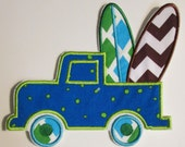 Surf Board Truck - Iron On or Sew On Embroidered Custom Made Applique