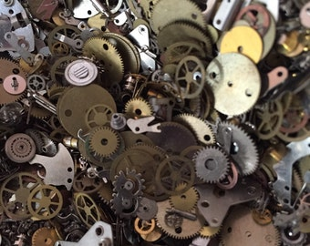Watch parts for your jewelry or creative designs  Steampunk supplies   gears Cogs