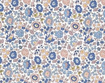 Liberty Fabric Danjo E Tana Lawn Half Yard Pastel Blue Floral