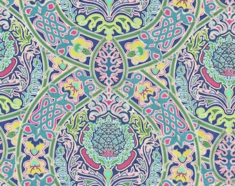 Liberty Fabric Gambier A Tana Lawn One Yard Pomegranate Design Tudor Bright