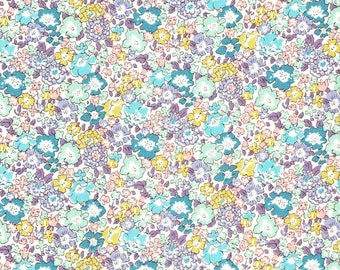 Liberty Fabric Michelle D Tana Lawn Fat Quarter Pastel Floral