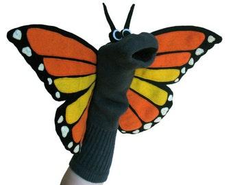 Monarch Sockett® Couture Butterfly Sock Puppet