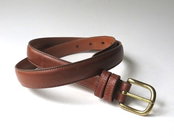 vintage Coach British Tan Leather Belt