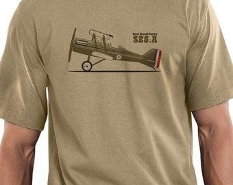 Retro SE5A Aircraft T-shirt