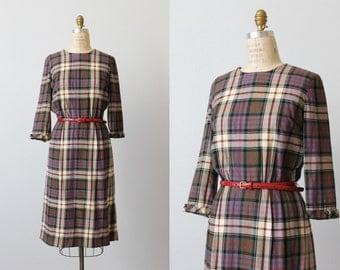 Plaid Dress / 1960s Dress / Wool Dress / Girl Friday