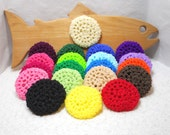 Pot Scrubbers, nylon net, pan scrubbie, home, kitchen cleaner, scour pad, eco-friendly, cleaning aid. Variety of 20 colors.