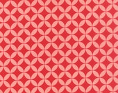 WINTER SALE - Hello Darling - 1 Yard - Orange Peel in Red Coral (55111-21) - Bonnie and Camille for Moda Fabrics