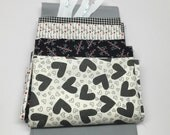 WINTER SALE - Zipper Pouch Kit - First Crush in Black - Sweetwater - Moda