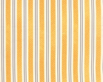 SUMMER SALE - Varsity - 1 yard - Rugby Stripe in Yellow (5597 17) - Sweetwater for Moda Fabric