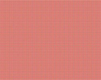 SPRING SALE - Lucky Star - 1 yard - C4834-Gingham in Red - Zoe Pearn for Riley Blake Designs