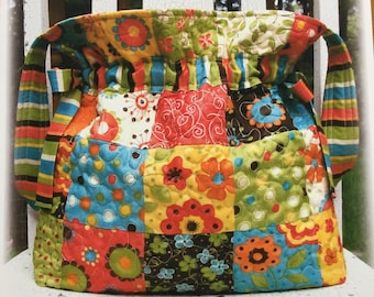 CHRISTMAS IN JULY Pattern Sale - Jumbo Drawstring Bag pattern by Carlene Westberg