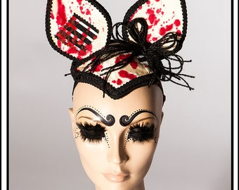Critter… Ears with Blood n Patches Headdress