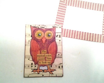 Owl Art Card