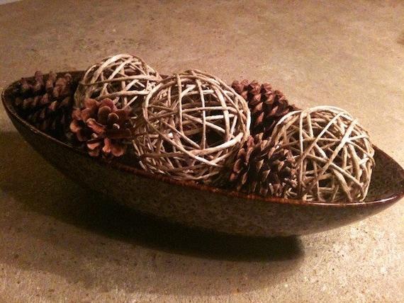 Decorative hemp spheres