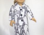 American girl Paris inspired pajamas