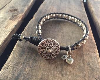 Silver Weaved Bracelet By Sudelin Creations